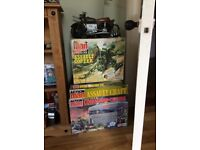 Vintage action man command centre and assault craft and special operations tent and assault copter.