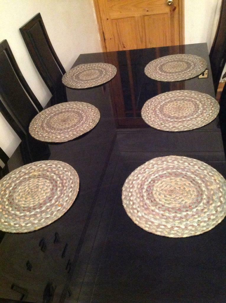 Pattern For Placemats For Round Table.6 X Round Table Placemats In Tremorfa Cardiff Gumtree