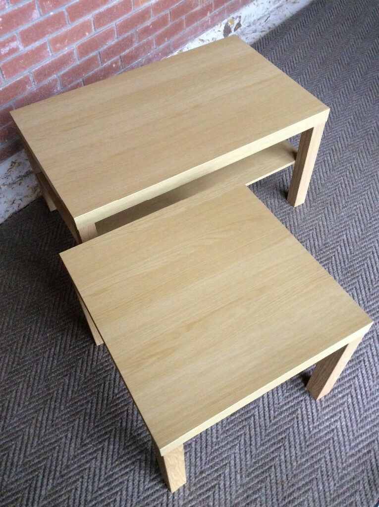 BRAND NEW Matching Light Wood (Light Oak) Coffee and Side Tables
