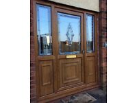 UPVC Door and frame with two side panels