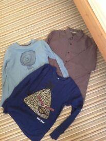Boys tops and shirt bundle