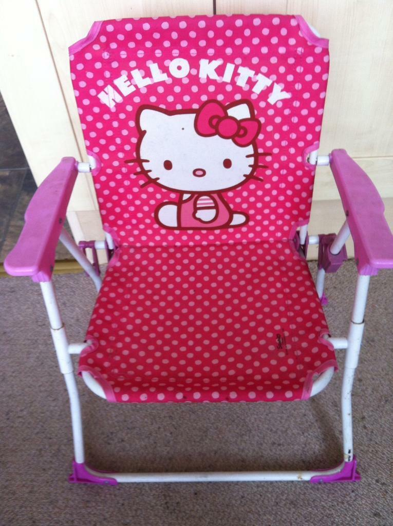 Nana's little kitty pink chair and step stool