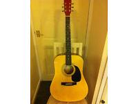 steel strung dreadnought shaped guitar