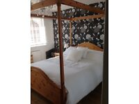 Ducal Pine 5 foot 4 Poster Bed - VICTORIA