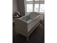Very smart cot / bed suitable from birth to 5 years. Adaptable to suit growing baby then small child