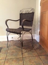 3 x Iron Dining Chairs