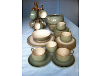 Denby Camelot Pottery 34 piece Collection 1980's Very Good Condition Glaze & Colour good.