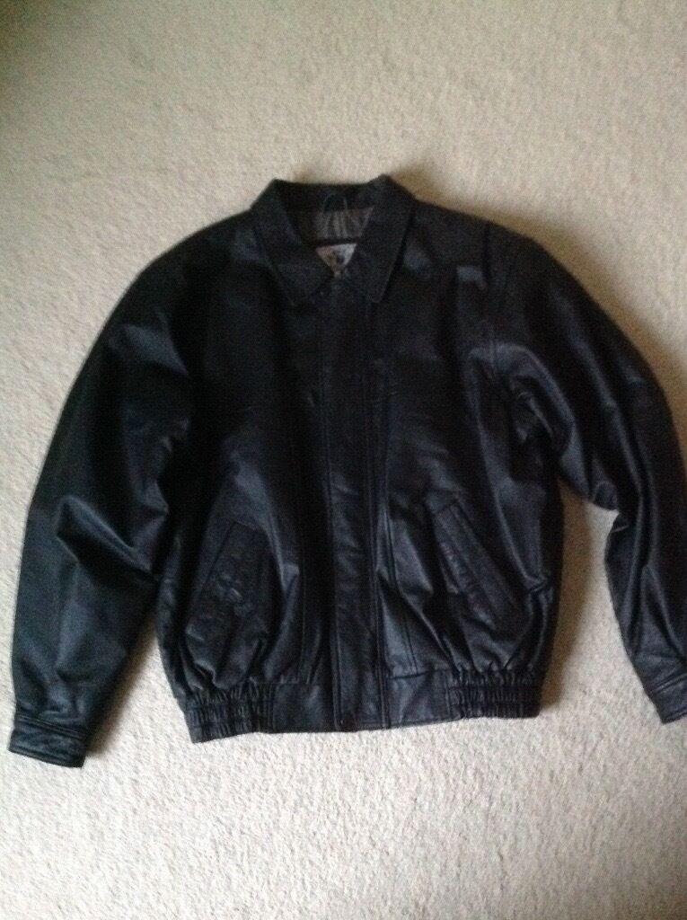 Mens black leather jacket by Savatiniin Sheffield, South YorkshireGumtree - This mens black leather jacket by Savatini is in new condition never been worn. Size Large