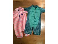 Two Next branded boys swimsuits