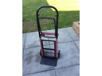 Strong metal trolley handy for moving heavy items