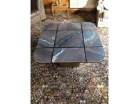 Large Square Marble Effect Coffee Table
