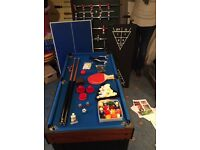 Multi game table, pool, table football, table tennis and many more