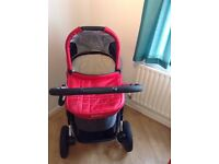 UPPAbaby Vista Travel System in Denny Red