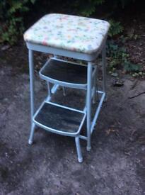 Vintage kitchen folding step stool