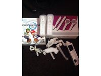Wii console, Wii fit board plus extras