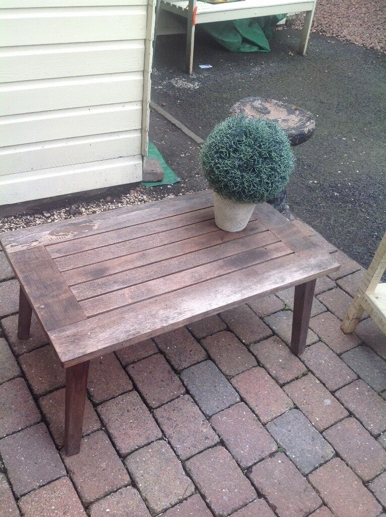 Garden teak occasional coffee table | in Hamilton, South ...