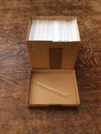 Box 100 Glass Test Tubes Rimmed