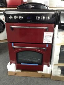 Leisure gourmet double oven. 60cm red £349 RRP £549 new/graded 12 month Gtee