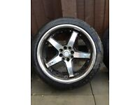 For sale four alloy wheels four stood multi stood with good tread on tires 205/40/17