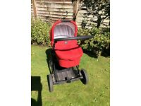 Britax b smart travel system with pram, pushchair and car seat