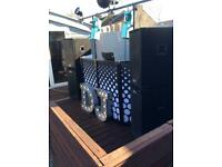 Completed DJ equipment pa (for sale) - (cd decks - amps - speakers and subs - lights)