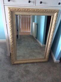 Gold gilt edged mirror