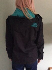 LADIES BLACK SUPERDRY COAT