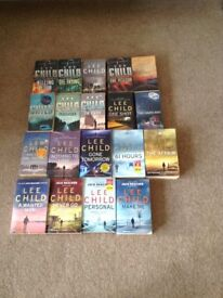 Large collection of Lee Child books