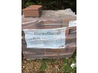 APPROX 1500 NEW DARK BRINDLE MARLEY ROOF TILES