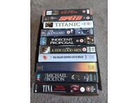 10 VHS music and film cassettes