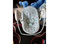 Tess Toys - Bright Starts Cosy Kingdom Baby Swing neutral/unisex colours excellent condition £25