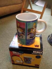 Talking Homer Simpson mug