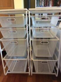 Ikea shelf drawer storage units, 2 available