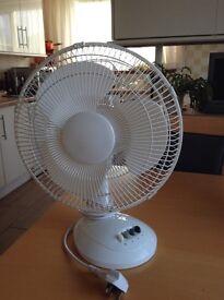 Fan,Electric,12 inch, Oscillating, 3 Speeds.