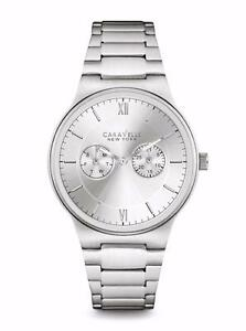 CARAVELLE NEW YORK Mens 43A134 Dress White Dial Watch