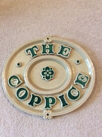 "Door sign / house name sign - ""The Coppice"""