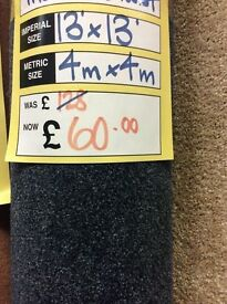 Half price carpets,brand new, 4 m x 4 m was £128 now £60