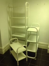 Various trolleys and shelving units free for collect