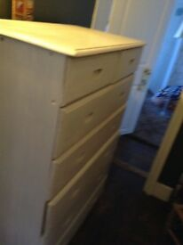 Solid wood chest of draws