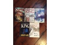 Stephen King books. Bundle of five, four of them purchased new, excellent condition