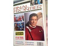 Finial frontier Star Trek magazine from July 1992 to January 1993.