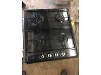 new world gas hob black
