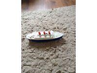 Vintage clockwork boat