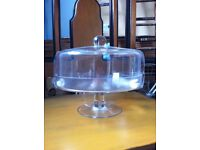 Brand New Luxury Chunky Glass Cake Dome Cloche Stand Table Ware / Can Deliver