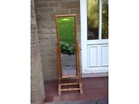 Cheval Mirror with solid pine wood frame