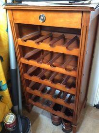 Dark wood wine rack
