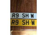 Private number plate R9 SHW