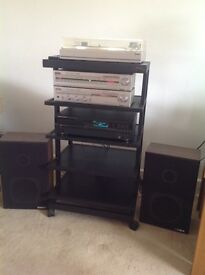 Fisher Stereo system -turntable, amp, tuner, CD player &speakers