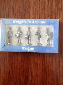 Knights in Armour collectible figures.