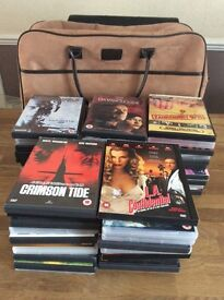 Bundle Of 50 DVDs With Suede Holdall